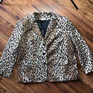 Notations Woman animal print blazer 1x